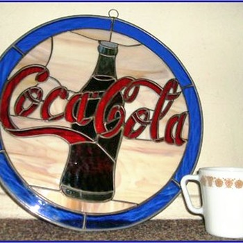 Stained Glass - Coca Cola ( COKE ) Decor - Coca-Cola