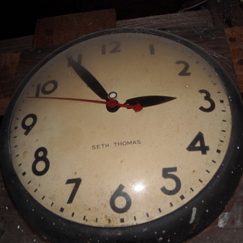 1960 Seth Thomas Industrial School/Wall Clock