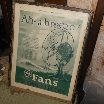 GE Electric Fan Ad From Saturday Evening Post 1926 - Advertising