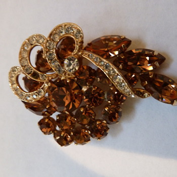 Copper Pave Pin - Costume Jewelry