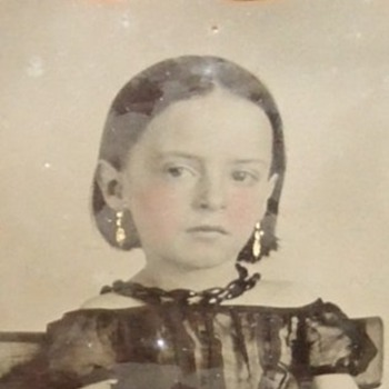 Cased Ambrotype of Beautiful little girl