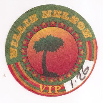 Willie Nelson stage passes - Music Memorabilia