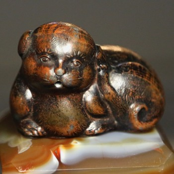 Enameled Cast Metal Foo Dog or what? - Animals