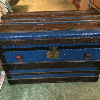 Antique trunk from the dump
