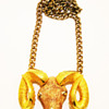 Vintage Razza Large Aries Ram Head Necklace
