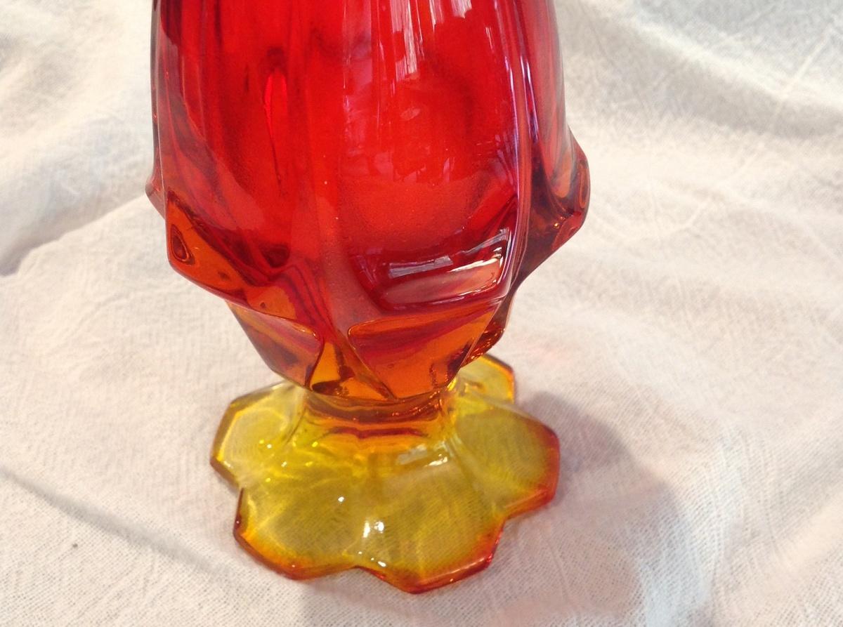 Fenton Amberina Swing Glass Vase Collectors Weekly