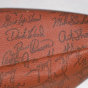 NFL RAIDERS TEAM SIGNED FOOTBALL - Football