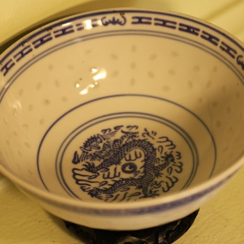 Chinese Dragon Bowl - Asian