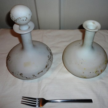 Vintage Milk Glass Bottles