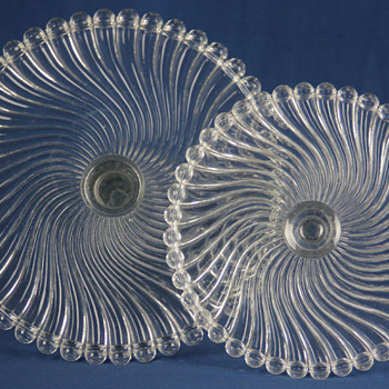 "McKee Bros ""Ray"" cake stands c1894"