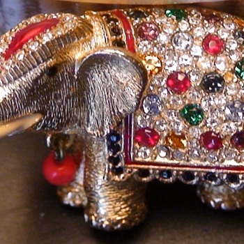 Butler & Wilson Elephant Pin - Costume Jewelry