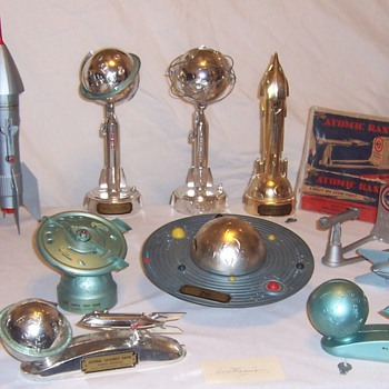 Space Race Era Mechanical Toy Banks