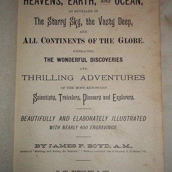 "1887 book by James P. Boyd, ""Wonders of the Heavens, Earth and Oceans ..."" - Books"