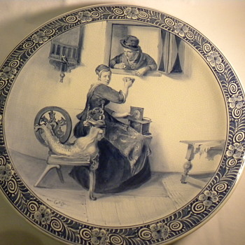 Antique Royal Delft Charger - Pottery