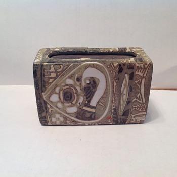 Ceramic Danish Matchbox Holder - Tobacciana