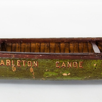 early American canoe factory display samples