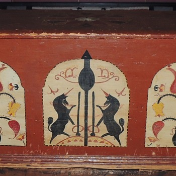 Painted PA or New England Blanket Chest 1800-1825 - Furniture