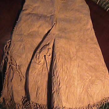 Todays DAV Thrift Store Find! Vintage Western Cowgirl Leather Pants Tassles. - Womens Clothing