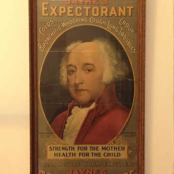 1898 Jayne's Expectorant / Tonic Vermifuge Patent Medicine Lithograph Advertisement w/ John Adams - Joseph P. Knapp Co.