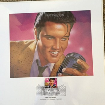 Elvis - Stamp Sheet, Saver Sleeve, Limited Edition Print