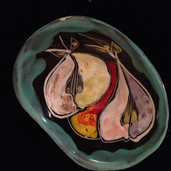 Painted Pottery Bowl - Art Pottery