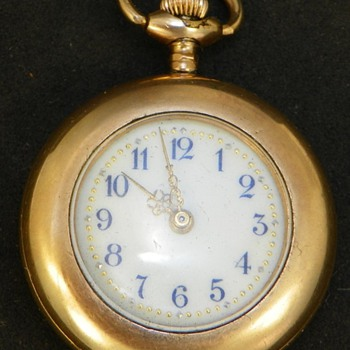Vintage Ladies Gold Plated Pocket Watch