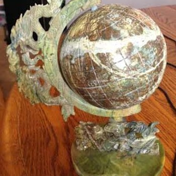 Green /Brown Soap Stone Globe