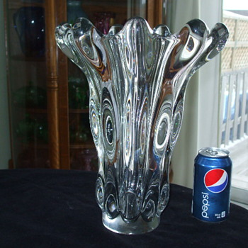 Our GOLIATH Vannes-Le-Chatel- FRANCE Crystal Vase - Art Glass