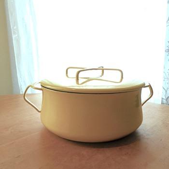 Dansk Kobenstyle 3Qt Enamel pan with trivet lid 1959-1964