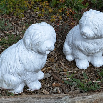 Sheepdog Garden Statues - extremely heavy