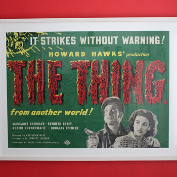 My prized 'Thing from another world' uk quad poster