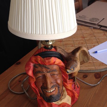 Very Rare Bossons Desert Hawk Lamp