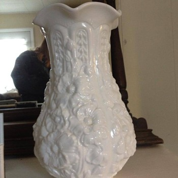 """Milk glass Tall 12"""" vase, is this an antique?"""