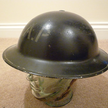British WWII First Aid Post helmet