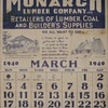 1940 Calendar page