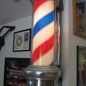 1950&#039;s Lighted Barber Pole - Advertising