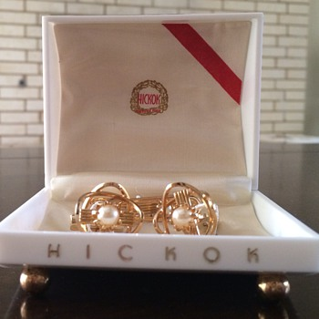 Vintage Hickok Cuff Links and Tie Clip