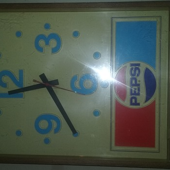 pepsi cola advertising wall clock