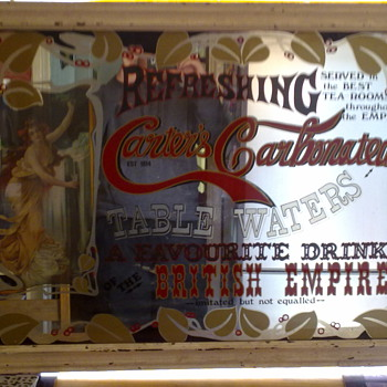 Carters Carbonated Advertising Mirror