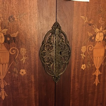 Part II Armoire with inlaid desk and cabinets with key