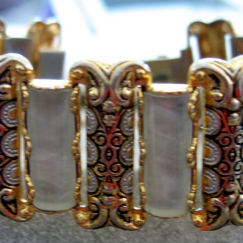 Fun Damascene and MOP Bracelet