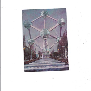 &quot;THE ATOMIUM&quot; POSTCARD - Advertising