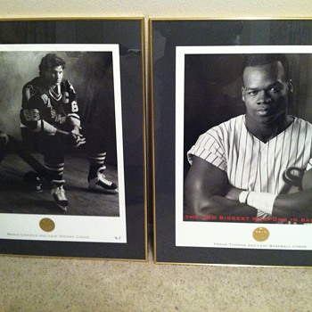 Leaf Mario Lemieux and Frank Thomas Collectibles