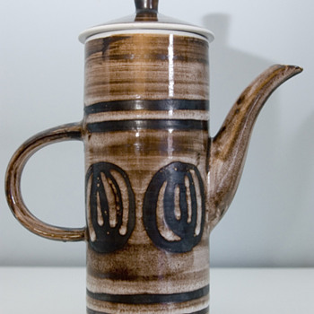 1960&#039;s Retro Coffee Pot by Cinque Ports Pottery Ltd