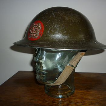 British London/Liverpool/Glasgow Salvage Company steel helmet