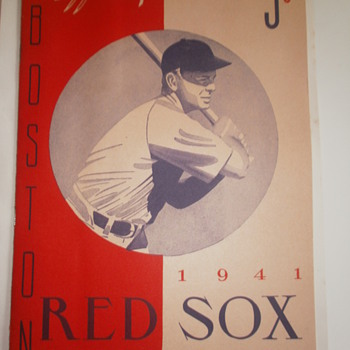 1941 Red Sox score card vs St.Louis Browns - Baseball
