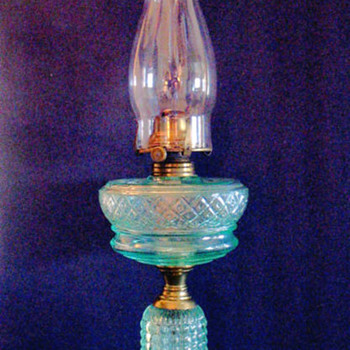 Apple Green Thousand Eye Oil Lamp
