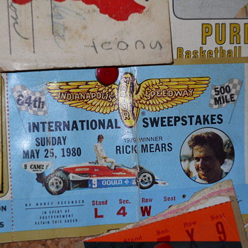 1980 Indy 500 ticket stub - Outdoor Sports