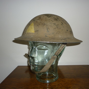 British WWII 1st Division steel helmet. 8th Army.