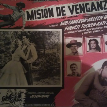 San Antone (1953) Mexican Lobby Card - Movies